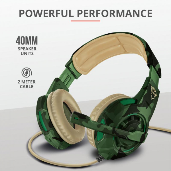 Trust GXT 310C Radius Headset - Jungle 10