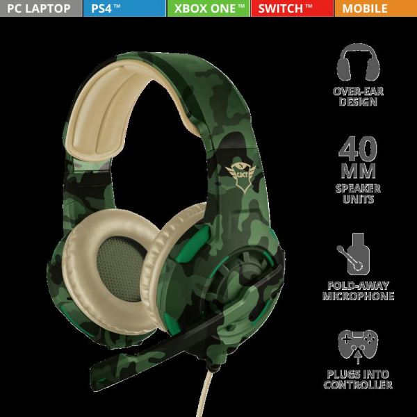 Trust GXT 310C Radius Headset - Jungle 7