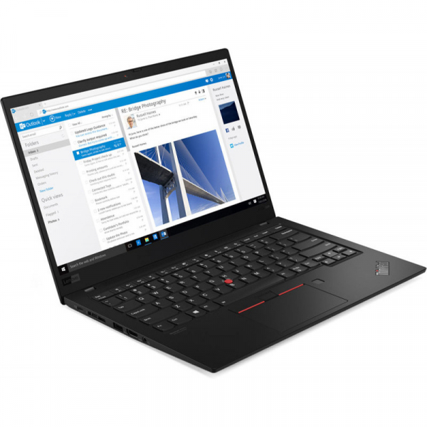 Ultrabook Lenovo 14'' ThinkPad X1 Carbon 7th gen, FHD IPS, Procesor Intel® Core™ i7-8565U (8M Cache, up to 4.60 GHz), 16GB, 512GB SSD, GMA UHD 620, 4G LTE, FingerPrint Reader, Win 10 Pro, Black Paint 1