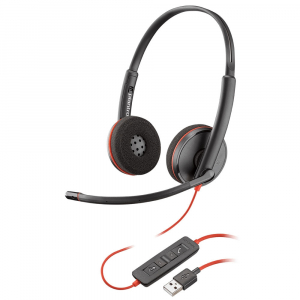 Casca Call Center Plantronics BLACKWIRE 3220, USB-A, Stereo (209745-101)1