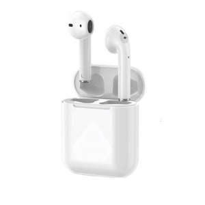 Casti Airpods i18 Upgrade v2, Wireless, Technomen, Bluetooth 5.0, Touch control magnetic charge0