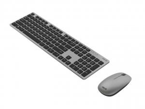 Kit Tastatura + Mouse Asus W5000, Wireless (10m) 2.4GHz ,800/1200/1600dpi, tastatura chiclet, 13 dedicated Windows 10 hotkeys,ultra-thin 11mm profile, high-quality rubber dome switches for silent,resp4
