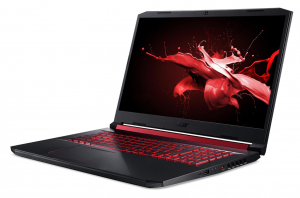 "Laptop Acer Nitro 5 AN517-51, 17.3"" display with IPS (In-Plane Switching) technology, Full HD 1920 x1080, high-brightness (300 nits) Acer ComfyViewTM LED-backlit TFT LCD, supporting 144 Hz, 3 ms Overd6"