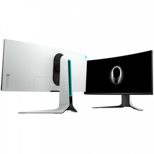 "Monitor gaming curbat LED Nano IPS Dell Alienware 34"", Ultra Wide QHD, Display Port, G-Sync, 120Hz, Negru/Gri9"
