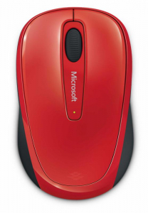 Mouse Microsoft Mobile 3500, Wireless, Rosu Glossy1
