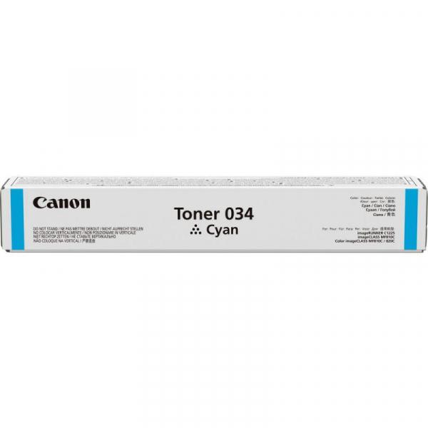 CANON 034C CYAN TONER CARTRIDGE 0