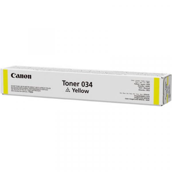 CANON 034Y YELLOW TONER CARTRIDGE 0