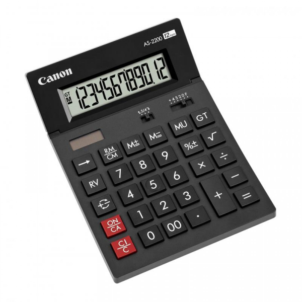 CANON AS2200 CALCULATOR 12 DIGITS 0