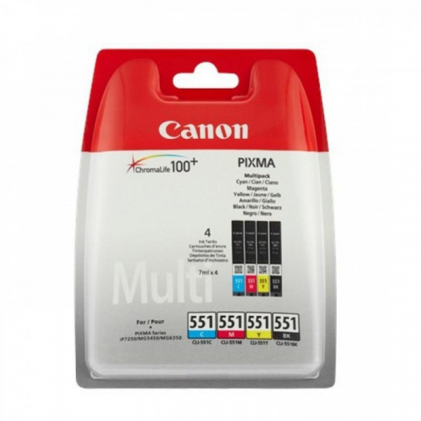 CANON CLI-551CMYB INKJET PACK CARTRIDGES 0