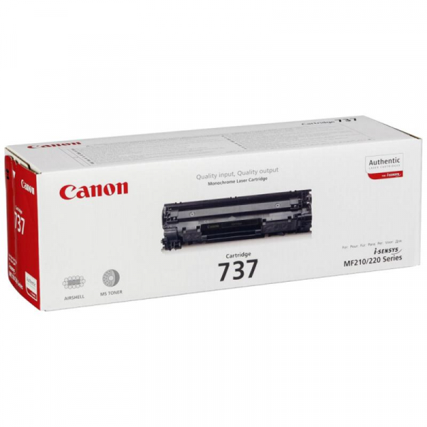 CANON CRG737 BLACK TONER CARTRIDGE 0