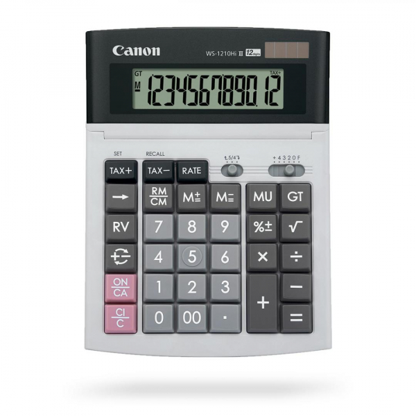 CANON WS1210THB CALCULATOR 12 DIGITS 0