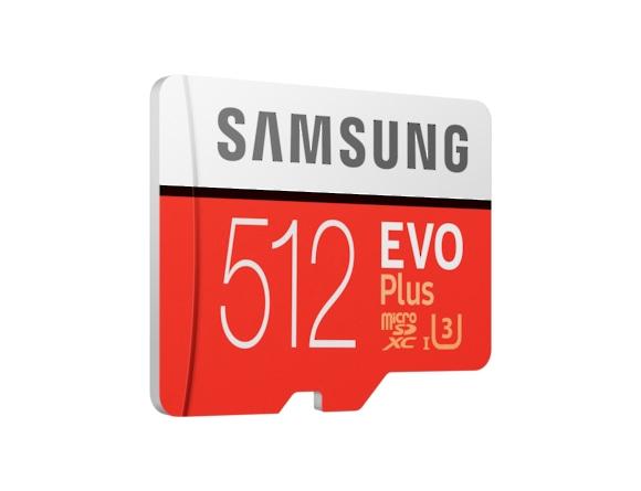Card memorie Samsung MB-MC512HA/EU  ,  Micro-SDXC,  EVO Plus,  512GB, rata transfer r/w 100/90 MB/s, Class 10, UHS-I,  (Adaptor SD inclus) 1