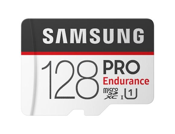 Card memorie Samsung MB-MJ128GA/EU  ,  Micro-SDXC,  PRO Endurance,  128GB, rata transfer r/w 100/30 MB/s, Class 10, UHS-I,  (Adaptor SD inclus), Proiectat pentru camere de supraveghere/securitate (das 0