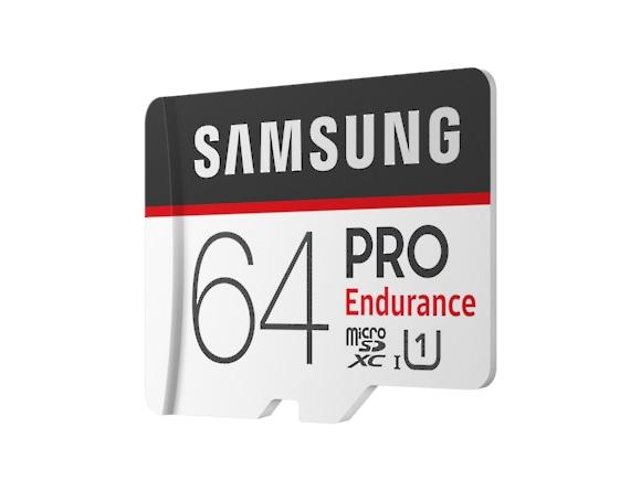 Card memorie Samsung MB-MJ64GA/EU  ,  Micro-SDXC,  PRO Endurance,  64GB, rata transfer r/w 100/30 MB/s, Class 10, UHS-I,  (Adaptor SD inclus), Proiectat pentru camere de supraveghere/securitate (dash  1