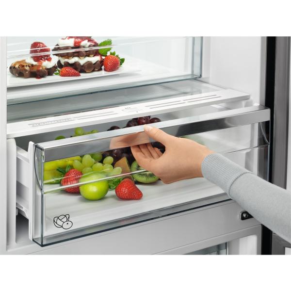 Combina frigorifica 360 litri A++ Frost free H 201 cm inox negru 4