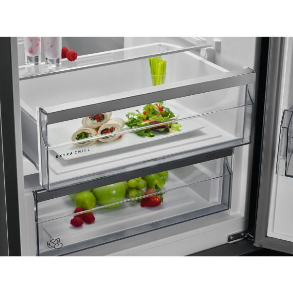 Combina frigorifica 360 litri A++ Frost free H 201 cm inox negru 3