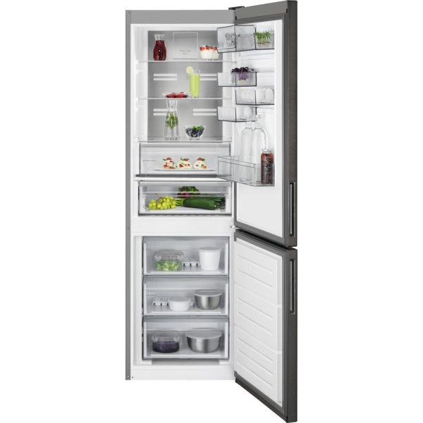 Combina frigorifica 324 litri A++ Frost free H 186 cm inox negru 0