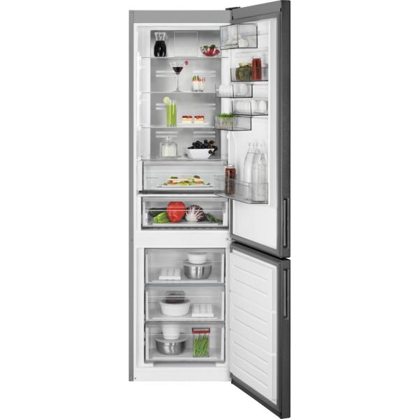 Combina frigorifica 360 litri A++ Frost free H 201 cm inox negru 0