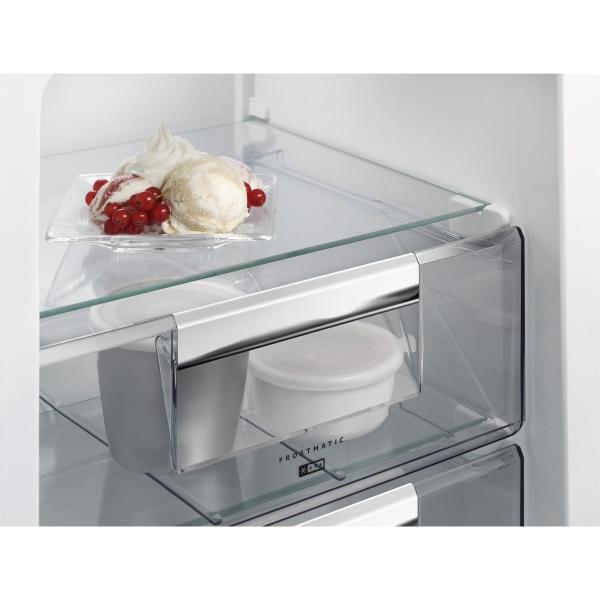 Combina frigorifica incorporabila 253 litri A++ Frost free H 177 cm alb 1