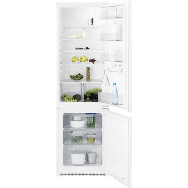 Combina frigorifica incorporabila ENN2800BOW 268 litri A+ Static low frost H 177 cm alb [0]