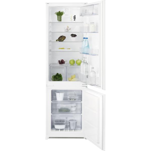 Combina frigorifica incorporabila ENN2812AOW 268 litri A++ Static low frost H 177 cm alb [0]