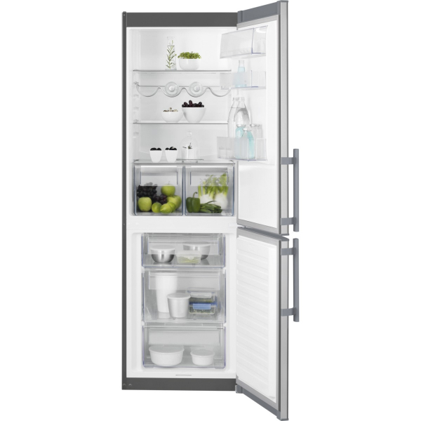 Combina frigorifica EN3601MOX 329 litri A++ Static low frost H 185 cm inox antiamprenta [0]