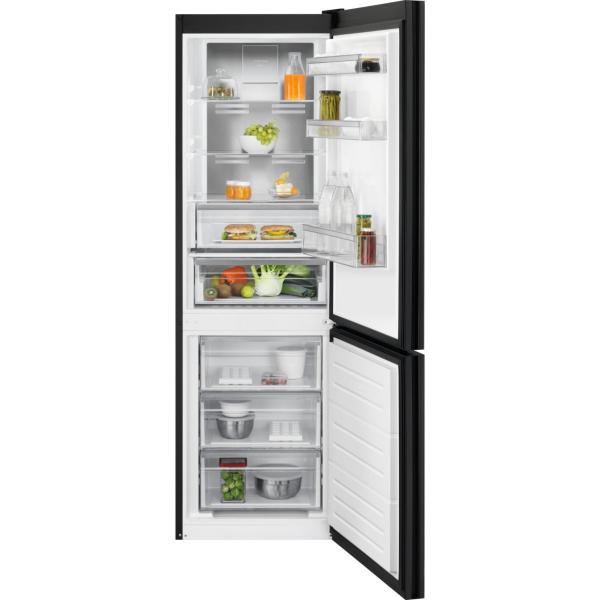 Combina frigorifica LNT7ME32M1 324 litri A++ Frost free H 186 cm sticla neagra mata [0]