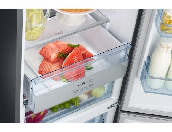 Combina frigorifica Samsung RB34K6032SS, All Around, Capacitate 344L, Capacitate neta congelator: 98l, Capacitate neta frigider: 246l, Inaltime 1917mm, Latime: 600mm, Adancime 664mm, Functii racire: N 6
