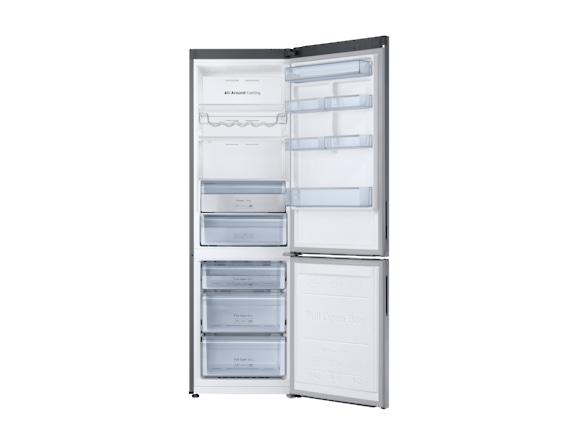 Combina frigorifica Samsung RB34K6032SS, All Around, Capacitate 344L, Capacitate neta congelator: 98l, Capacitate neta frigider: 246l, Inaltime 1917mm, Latime: 600mm, Adancime 664mm, Functii racire: N 3