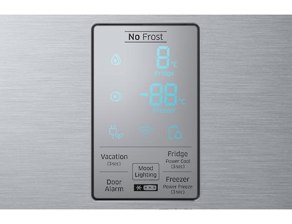 Combina frigorifica Samsung RB34K6032SS, All Around, Capacitate 344L, Capacitate neta congelator: 98l, Capacitate neta frigider: 246l, Inaltime 1917mm, Latime: 600mm, Adancime 664mm, Functii racire: N 5
