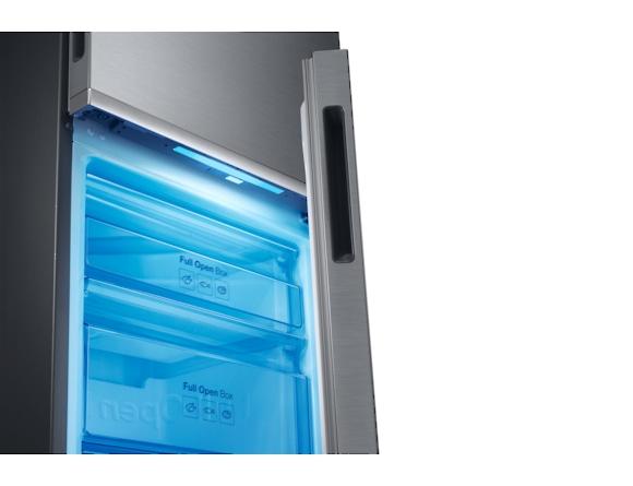 Combina frigorifica Samsung RB34K6032SS, All Around, Capacitate 344L, Capacitate neta congelator: 98l, Capacitate neta frigider: 246l, Inaltime 1917mm, Latime: 600mm, Adancime 664mm, Functii racire: N 8