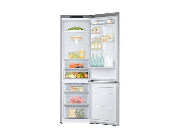 Combina frigorifica Samsung RB37J500MSA, All Around, Capacitate 387L, Capacitate neta congelator: 98l, Capacitate neta frigider: 255l, Inaltime 2010mm, Latime: 595mm, Adancime 675mm, Functii racire: N 5