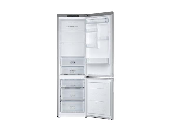 Combina frigorifica Samsung RB37J500MSA, All Around, Capacitate 387L, Capacitate neta congelator: 98l, Capacitate neta frigider: 255l, Inaltime 2010mm, Latime: 595mm, Adancime 675mm, Functii racire: N 4