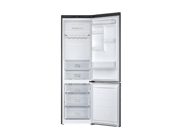 Combina frigorifica Samsung RB37J501MB1, All Around, Capacitate 387L, Capacitate neta congelator: 98l, Capacitate neta frigider: 255l, Inaltime 2010mm, Latime: 595mm, Adancime 675mm, Functii racire: N 3