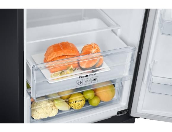 Combina frigorifica Samsung RB37J501MB1, All Around, Capacitate 387L, Capacitate neta congelator: 98l, Capacitate neta frigider: 255l, Inaltime 2010mm, Latime: 595mm, Adancime 675mm, Functii racire: N 6