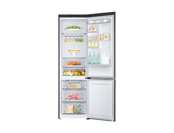 Combina frigorifica Samsung RB37J501MB1, All Around, Capacitate 387L, Capacitate neta congelator: 98l, Capacitate neta frigider: 255l, Inaltime 2010mm, Latime: 595mm, Adancime 675mm, Functii racire: N 4