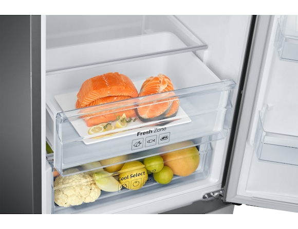 Combina frigorifica Samsung RB37J546MSA, All Around, Capacitate 353L, Capacitate neta congelator: 98l, Capacitate neta frigider: 255l, Inaltime 2010mm, Latime: 595mm, Adancime 675mm, Functii racire: N 6