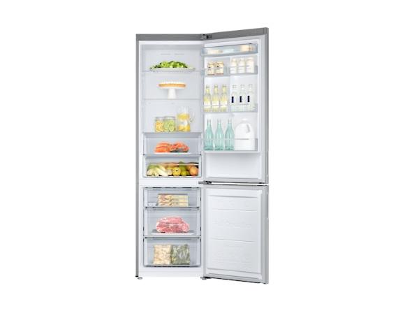 Combina frigorifica Samsung RB37J546MSA, All Around, Capacitate 353L, Capacitate neta congelator: 98l, Capacitate neta frigider: 255l, Inaltime 2010mm, Latime: 595mm, Adancime 675mm, Functii racire: N 4