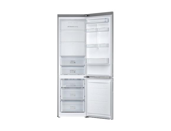 Combina frigorifica Samsung RB37J546MSA, All Around, Capacitate 353L, Capacitate neta congelator: 98l, Capacitate neta frigider: 255l, Inaltime 2010mm, Latime: 595mm, Adancime 675mm, Functii racire: N 3