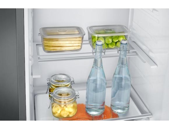Combina frigorifica Samsung RB37J546MSA, All Around, Capacitate 353L, Capacitate neta congelator: 98l, Capacitate neta frigider: 255l, Inaltime 2010mm, Latime: 595mm, Adancime 675mm, Functii racire: N 7