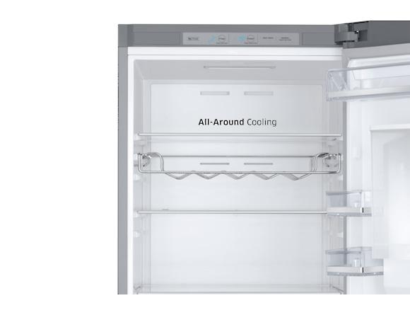 Combina frigorifica Samsung RB38J7530SR, All Around, Capacitate 373L, Capacitate neta congelator: 130l, Capacitate neta frigider: 243l, Inaltime 1927mm, Latime: 595mm, Adancime 650mm, Functii racire:  6