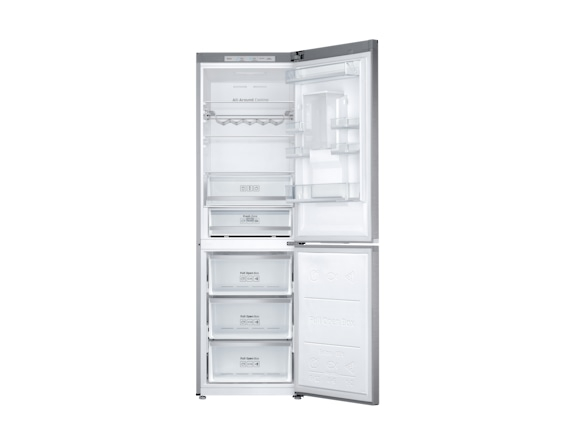 Combina frigorifica Samsung RB38J7530SR, All Around, Capacitate 373L, Capacitate neta congelator: 130l, Capacitate neta frigider: 243l, Inaltime 1927mm, Latime: 595mm, Adancime 650mm, Functii racire:  3
