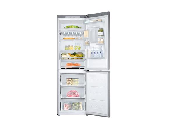 Combina frigorifica Samsung RB38J7530SR, All Around, Capacitate 373L, Capacitate neta congelator: 130l, Capacitate neta frigider: 243l, Inaltime 1927mm, Latime: 595mm, Adancime 650mm, Functii racire:  4