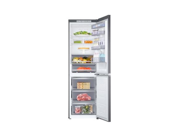 Combina frigorifica Samsung RB38R7717S9, Twin Cooling Plus, Capacitate 382L, Capacitate neta congelator: 130l, Capacitate neta frigider: 252l, Inaltime 1927mm, Latime: 595mm, Adancime 650mm, Functii r 4