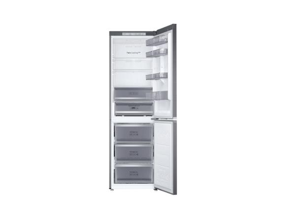 Combina frigorifica Samsung RB38R7717S9, Twin Cooling Plus, Capacitate 382L, Capacitate neta congelator: 130l, Capacitate neta frigider: 252l, Inaltime 1927mm, Latime: 595mm, Adancime 650mm, Functii r 3