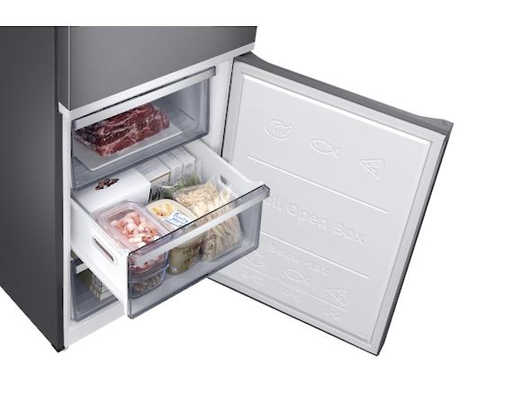 Combina frigorifica Samsung RB38R7717S9, Twin Cooling Plus, Capacitate 382L, Capacitate neta congelator: 130l, Capacitate neta frigider: 252l, Inaltime 1927mm, Latime: 595mm, Adancime 650mm, Functii r 7