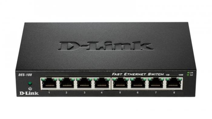 DLINK SW 8P-FE UNMNGD DESK METAL [0]