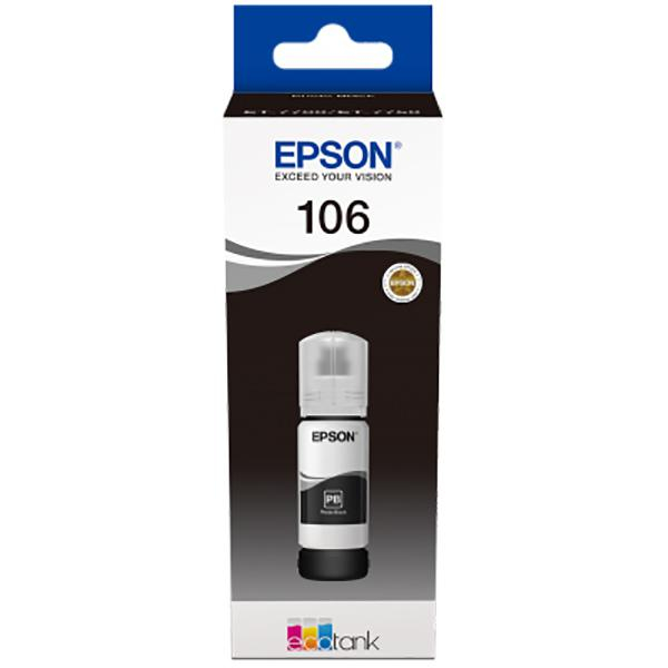 EPSON 106 ECOTANK BLACK INK BOTTLE 0