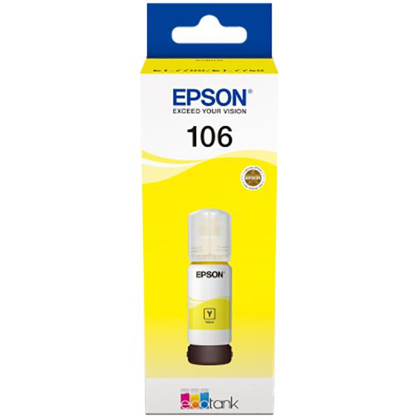 EPSON 106 ECOTANK YELLOW INK BOTTLE 0