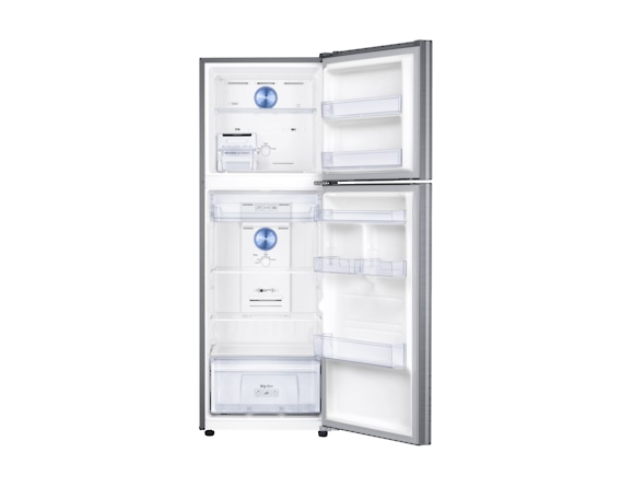 Frigider top Samsung RT32K5030S9, Capacitate 321L, Capacitate neta congelator: 72l, Capacitate neta frigider: 249l, Inaltime 1715mm, Latime: 600mm, Adancime 672mm, Functii racire: Twin Cooling Plus/No 3